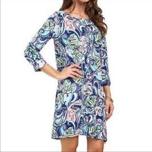 Lilly Pulitzer Edna Dress Hanging with Fronds XS